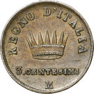 3 Centesimi - Napoleon I – reverse