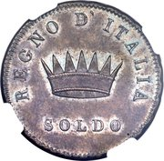 1 Soldo - Napoleon I (Pattern strike) – reverse