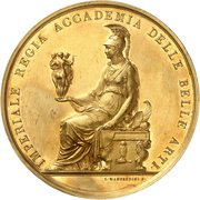 Gold Prize Medal - Imperial Academy of Fine Arts (Venice) – obverse