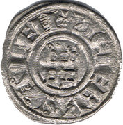 Denier - Baldwin III (Tower of David - honed type) – reverse