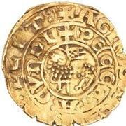 "Bezant ""Saracen"" - Anonymous (Crusader imitation - 4th type Agnus Dei - Acre) – obverse"