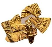Gold Bezant fragments - Anonymous (Crusader imitation) – obverse