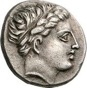 Tetrobol - Philip II (Amphipolis) – obverse