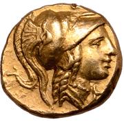 ¼ Stater - Alexander III (Amphipolis) – obverse