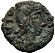 1 Nummus - Gunthamund (Carthage; regular Chi Rho with dots) – obverse