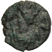 1 Nummus - Gunthamund (Carthage; regular Chi Rho with petals) – obverse