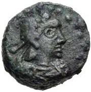 1 Nummus - Thrasamund / In the name of Uncertain King (Carthage) – obverse