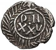 25 Denarii - Gunthamund (Carthage; regular value with line) – reverse