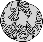 25 Denarii - Thrasamund (Carthage) – obverse
