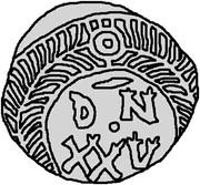 25 Denarii - Thrasamund (Carthage) – reverse