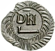 50 Denarii - Thrasamund (Carthage; with value) – reverse