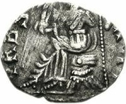 1 Siliqua - Anonymous / In the name of Honorius, 393-423 (Carthage; leg extended) – reverse