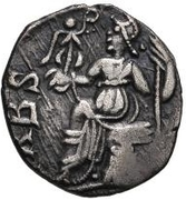 1 Siliqua - Anonymous / In the name of Honorius, 393-423 (Carthage; leg tucked-in) – reverse