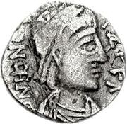 1 Siliqua - Genseric / In the name of Honorius, 393-423 (Carthage) – obverse