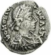 1 Siliqua - Huneric / In the name of Honorius, 393-423 (Carthage) – obverse