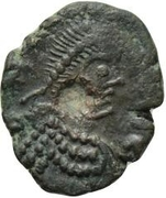 1 Nummus - Anonymous / In the name of Leo I, 457-474 (Carthage) – obverse
