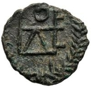 1 Nummus - Genseric / In the name of Theodosius II, 408-450 (Carthage; regular monogram) – reverse