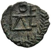 1 Nummus - Genseric / In the name of Theodosius II, 408-450 (Carthage; regular monogram) – reverse