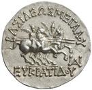 Tetradrachm - Eukratides I – reverse