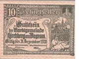 10 Heller (Kirchberg am Wagram) – obverse