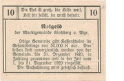 10 Heller (Kirchberg am Wagram) -  reverse