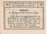 10 Heller (Kirchberg am Wagram) – reverse