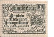 50 Heller (Kirchberg am Wagram) – obverse