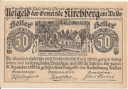 50 Heller (Kirchberg am Walde) – obverse