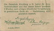 99 Heller ( Kirchberg an der Donau) – reverse