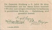 10 Heller (Kirchberg an der Donau) – reverse