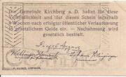 50 Heller (Kirchberg an der Donau) – reverse