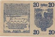 20 Heller (Kirchberg bei Linz) – reverse