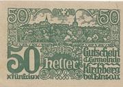 50 Heller (Kirchberg bei Linz) – obverse