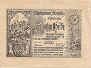 50 Heller (Kirchschlag) – obverse