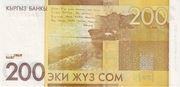 200 Som (Alıqul Osmonov 100 Years) – reverse