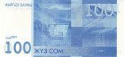 100 Som (Toqtoğul Satılğan 150 Years) – reverse