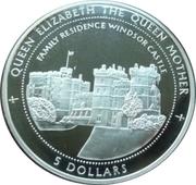 5 Dollars (Windsor Castle-Family residence) – reverse