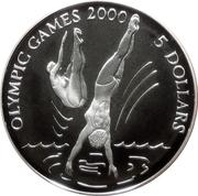 5 Dollars (Olympic Games in Sydney 2000) – reverse