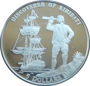 5 Dollars  (Discoverer of Kiribati) – reverse