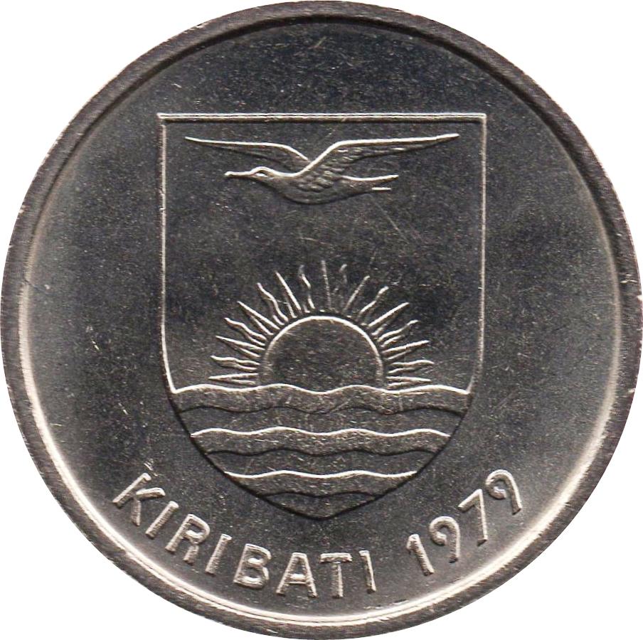 1979 Kiribati Coin 5 Cents   TOKAI LIZARD  uncirculated beauty dragon coin