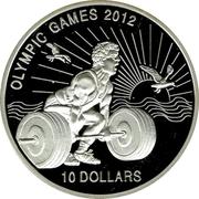 10 Dollars (Olympic Games 2012) – reverse
