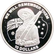 10 Dollars - Elizabeth II (ANZAC Day - Rifle) – reverse