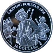 10 Dollars - Elizabeth II (Leaving for War) – reverse