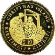 10 Dollars (The Birth of Christ) – reverse