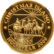"""50 Dollars (The three """"Wise Men"""" on camels) – reverse"""
