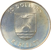 10 Dollars (5th Anniversary of Independence) – obverse
