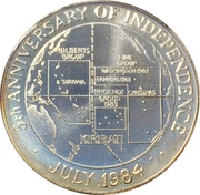 10 Dollars (5th Anniversary of Independence) – reverse