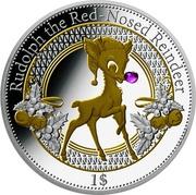 1 Dollar (Christmas Island - Rudolph) – reverse