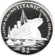 2 Dollars (Titanic) – reverse