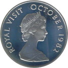 5 Dollars (Royal Visit; Silver Proof Issue) – reverse